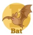 ABC Cartoon Bat vector image