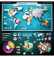 Design set of infographic elements vector image