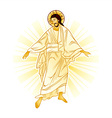 Resurrection of Jesus vector image