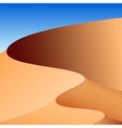 Sand dunes abstract background vector image