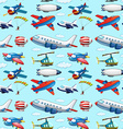 Seamless aircrafts vector image