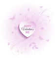 decorative valentines day background vector image