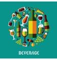 Beverage flat design poster vector image vector image