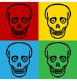 Pop art zombie icons vector image vector image