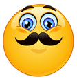 emoticon with mustache vector image vector image