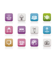 hotel and holidays icons vector image