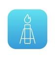 Gas flare line icon vector image
