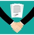 Handshake in flat style vector image