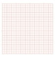 background with red graph paper vector image
