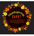 Banner to Thanksgiving Autumn vector image