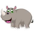 Cartoon rhino for you design vector image