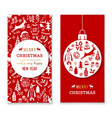 christmas and new year banners vector image