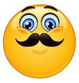 emoticon with mustache vector image