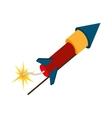 rocket dynamite explode spark vector image