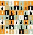pattern silhouette alcohol bottle vector image vector image