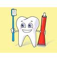 healthy tooth vector image vector image