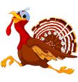Running Cartoon Turkey vector image