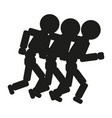 Running people sign black vector image