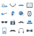 Hipster icons set vector image