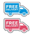 Delivery truck4 vector image