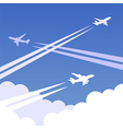 Sky planes background 01 vector image