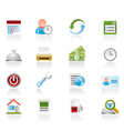 reservation and hotel icons vector image vector image