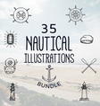 35 Nautical Bundle vector image