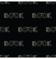 black seamless pattern with symbol of the book vector image