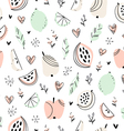 Stylized fruits pattern vector image vector image