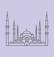 Blue Mosque Istanbul vector image