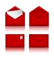 Set of Red envelopes vector image