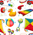 Seamless design with many toys vector image