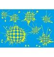 background halftone blot balls blue vector image