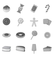Different candy icons set monochrome style vector image