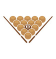 balls and cues in triangle vector image