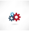 cogs icon vector image