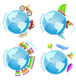 voyage around the world vector image vector image