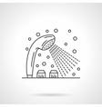 Shower dispenser flat line design icon vector image