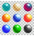 Color balls set vector image