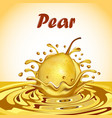 a splash of fruit pear juice vector image