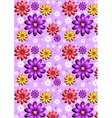 Gentle purple seamless background with flowers vector image