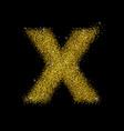 gold dust font type letter x vector image