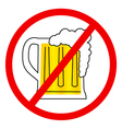 No beer sign vector image