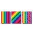 rainbow cover set vector image