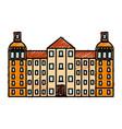 reichstag building icon vector image