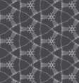 Repeating ornament dotted complex net vector image