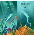 Sea Underwater Life Vertical Banners vector image