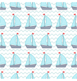 seamless pattern with pixel sailboats vector image