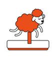 sheep running cartoon vector image