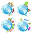 voyage around the world vector image